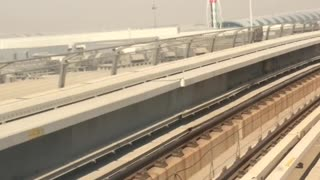 Beautiful view of dubai metro  - Video