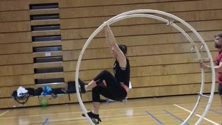 Circus Artist Tackles a New Trick - Video