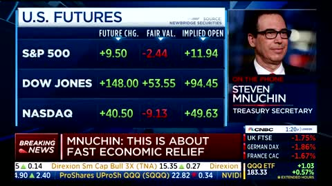 Mnuchin notes unemployment #s are only temporary
