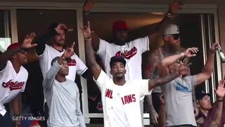 LeBron James Goes Crazy Over Cleveland Indians In World Series - Video