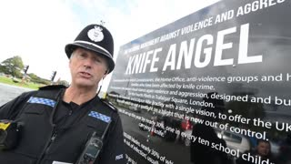 Amnesty knives will make Knife Angel's plinth - Video