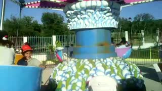 a carousel at the zoo in Algeria