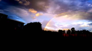 Brilliant double rainbow - Video