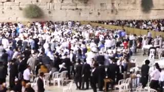 cultures from around the world - Jews pray at the Western Wall Selichot prayers 3 - Video