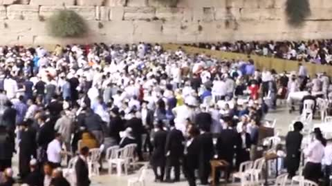 cultures from around the world - Jews pray at the Western Wall Selichot prayers 3
