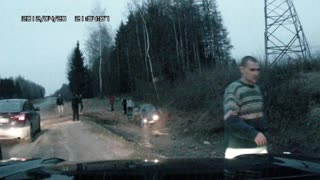 Dashcam Records Accident in Russia - Video