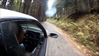 Insane drifting skills on dangerous mountain road