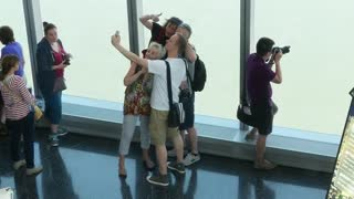 Visitors line up to see the majestic views from One World Trade Center