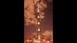 Tallest tower in the world time lapse - Video