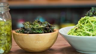 BBQ Kale Chips - Kale Pesto - Pickled Kale Stems - Video