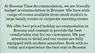 accommodation in broome cable beach - Video