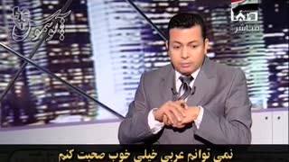 Iranian man comments to an Arab Live TV program - Video