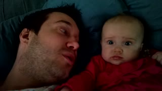 Cute baby doesn't like facial hair - Video