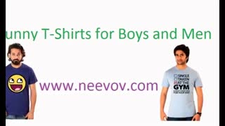 Funny Blue Colour T Shirts - Video