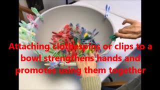Clothespins Bowl Activity for Sensory Processing Disorders