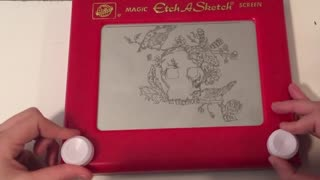 Time lapse captures incredible Etch-A-Sketch artwork process