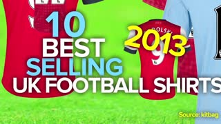 10 Best-Selling UK Football Shirts 2013 - Video