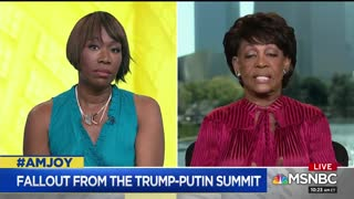 Maxine Waters — I think Pres Trump Is Vladimir Putin's Apprentice - Video