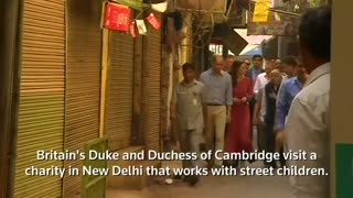 William and Kate visit New Delhi charity for street children