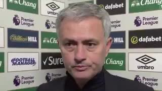 Jose Mourinho post match interview Everton 1-1 Man Utd - Video