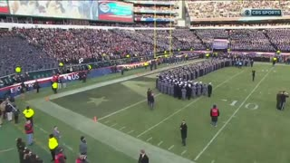 West Point and Annapolis sing national anthem