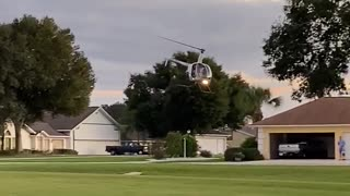 Helicopter takes off from my front yard!