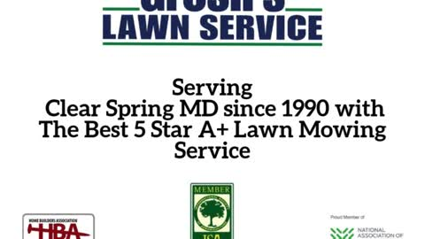 Lawn Mowing Service Clear Spring MD Groshs Lawn Service
