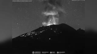 Mexican Volcano Eruption Sends Ash High In Air