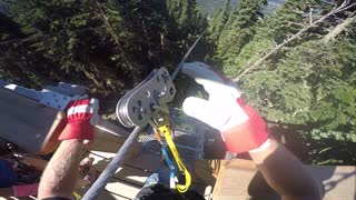 Epic POV footage of record-long zipline ride - Video