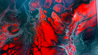 Abstract Painting - Red Black White