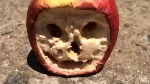 Shriveled Face Appears in Apple