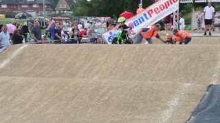 Balance Bike Race Finish Line Fail - Video