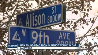 Man found dead from gunshot wound in car