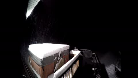 Watch this time lapse 21 hour snow storm in 14 seconds