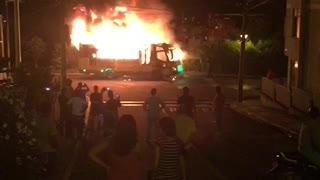 Incendio en un bus - Video