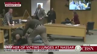 Victim's Father Attacks Ex-USA Gymnastics Doctor Larry Nassar - Video