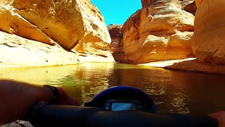 Taking a stroll in marvelous Antelope Canyon, Utah on jet ski - Video