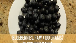 Blueberries, Raw - Blood Sugar Test