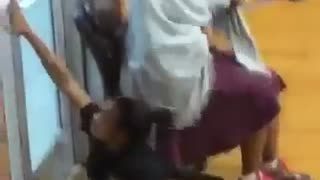 Teacher Drags a Student Across the floor by Her Hair (Extended Footage) - Video