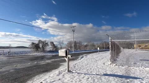 Time lapse of melting snow