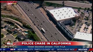 Crazy Police Chase In California... Suspect Continues After Several PIT Moves