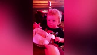 A Boy Makes Strange Face When He Sees Dinner Rolls - Video