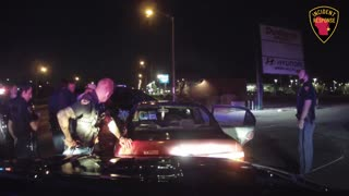 Dash Cam: Police Pursuit... Foot Bail & Chase