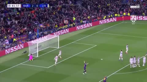 Super super golazo de Messi vs Liverpool