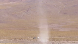 Enormous Dust Devil in Bolivia - Video