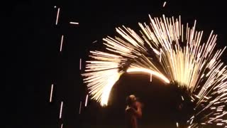 Night Fireshow in Thailand