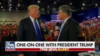Hannity interviews Trump at Rally - Video