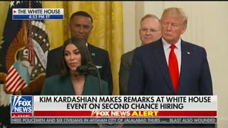 Kim Kardashian speaks at White House