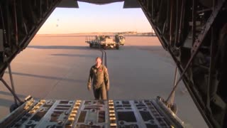 C-130J Super Hercules Arrives at Dyess Air Base Texas - Video