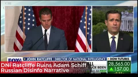 DNI Ratcliffe Puts the SMACKDOWN on Adam Schiff's Russian Disinfo Claim